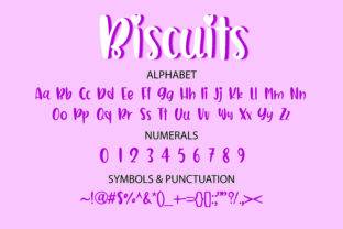 Print on Demand: Biscuits Display Font By GoodMoodType 2