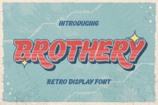 Print on Demand: Brothery Display Font By almarkhatype