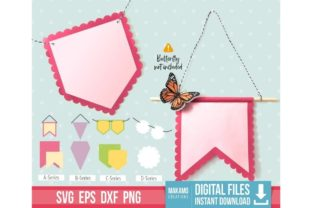 Bunting Banners SVG Bundle Graphic 3D SVG By makamocreations