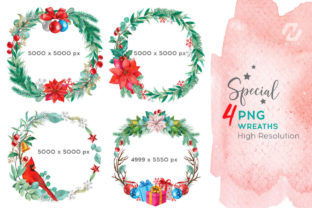 Print on Demand: Christmas Watercolor Elements Graphics Graphic Illustrations By nesdigiart 10