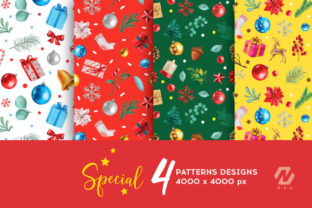 Print on Demand: Christmas Watercolor Elements Graphics Graphic Illustrations By nesdigiart 12