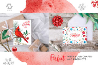 Print on Demand: Christmas Watercolor Elements Graphics Graphic Illustrations By nesdigiart 13