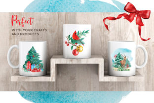 Print on Demand: Christmas Watercolor Elements Graphics Graphic Illustrations By nesdigiart 14
