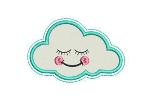 Cloud Applique Babies & Kids Embroidery Design By Embroiderypacks