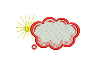 Cloud with Sun Babies & Kids Embroidery Design By Embroiderypacks