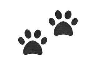 Cute Dog Footprints Dogs Embroidery Design By Embroiderypacks