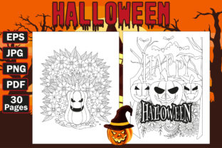 Halloween Coloring Pages- Halloween Graphic Coloring Pages & Books Adults By mi632883