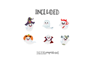 Print on Demand: Halloween Spooky Ghosts Graphic Illustrations By DigitalPapers 2