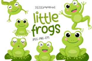 Print on Demand: Little Frogs Graphic Illustrations By DigitalPapers