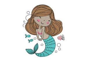 Mermaid Fairy Tales Embroidery Design By Canada Crafts Studio