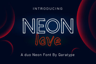 Print on Demand: Neon Love Display Font By Crafty Files