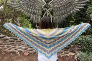 Penumbra Knit Shawl Graphic Knitting Patterns By Knit and Crochet Ever After