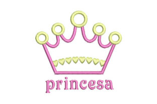 Princess Crown Fairy Tales Embroidery Design By Embroiderypacks