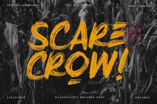 Print on Demand: Scarecrow Display Font By Scratch Design