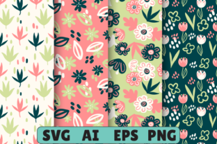 Seamless Spring Flowers Leaves Pattern#2 Graphic Patterns By magicCreative