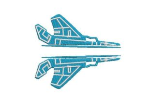 Split F-14 Airplane Military Embroidery Design By Embroidery Designs