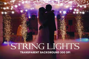 Print on Demand: String Lights Overlay, String Lights Graphic Actions & Presets By The Rose Mind