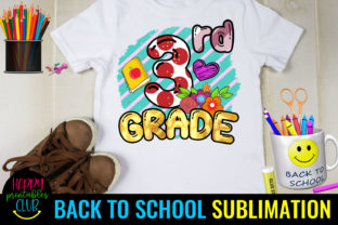 Third Grade Back to School Sublimation Graphic Crafts By Happy Printables Club
