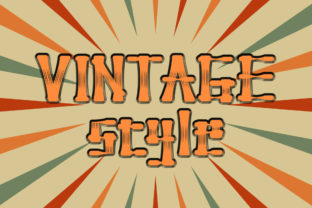 Print on Demand: Vintage Style Display Font By Zizafonts