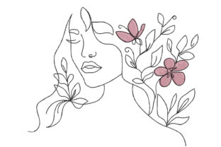 Woman Lady Girl Fashion & Beauty Embroidery Design By Canada Crafts Studio
