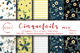 Print on Demand: Yellow Flowers Seamless Digital Paper Graphic Patterns By Summer Digital Design