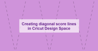 Calculating the Angle and Length of a Diagonal Score Line