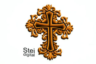 3d Layered Cross SVG, DXF Cut Files. Graphic 3D SVG By SteiDigital