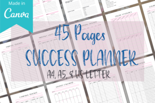 45 Page Daily Planner & Success Planner Graphic Graphic Templates By Design Templates by D