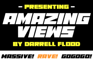 Print on Demand: Amazing Views Display Font By Dadiomouse 1