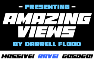 Print on Demand: Amazing Views Display Font By Dadiomouse 2