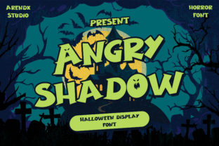 Print on Demand: Angry Shadow Display Font By Arendxstudio