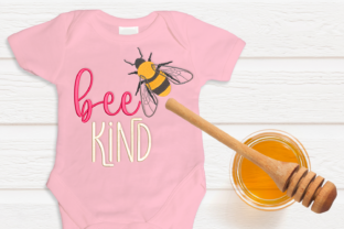 Bee Kind with Realistic Bee Bugs & Insects Embroidery Design By DesignedByGeeks