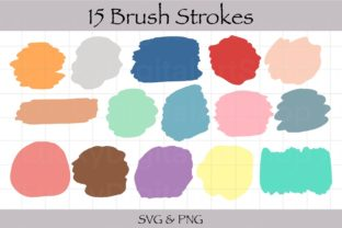 Brush Stroke Sublimation SVG Clipart Graphic Print Templates By LuckyDigital