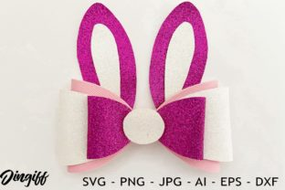 Print on Demand: Bunny Bow Template Graphic 3D SVG By morimorejingiff