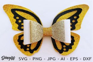 Print on Demand: Butterfly Bow Template Graphic 3D SVG By morimorejingiff