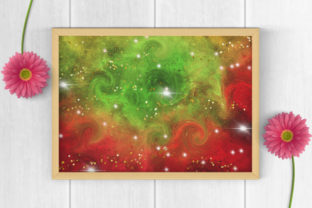 Print on Demand: Christmas Galaxy Glitter Digital Papers Graphic Backgrounds By PinkPearly 5