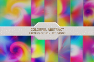 Colorful  Abstract  Digital Paper Pack Graphic Backgrounds By DifferPP