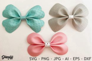 Print on Demand: Flower Pinch Bow Template Graphic 3D SVG By morimorejingiff