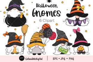 Halloween Gnome Clipart Graphic Illustrations By CatAndMe