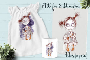 Halloween Zombie Girl Sublimation. Graphic Crafts By nicjulia