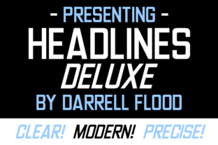 Print on Demand: Headlines Deluxe Sans Serif Font By Dadiomouse 1