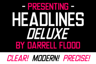 Print on Demand: Headlines Deluxe Sans Serif Font By Dadiomouse 2