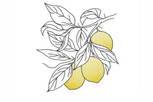 Lemons Food & Dining Embroidery Design By NinoEmbroidery
