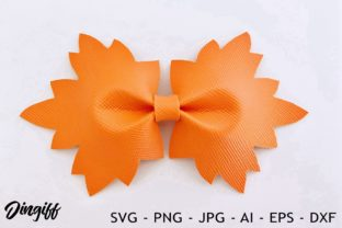 Print on Demand: Maple Pinch Bow Template Graphic 3D SVG By morimorejingiff