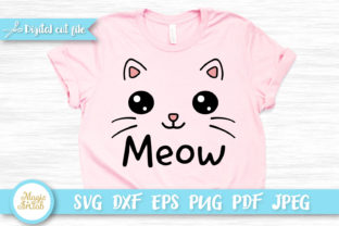 Meow Cat T-shirt Design SVG Graphic Crafts By MagicArtLab