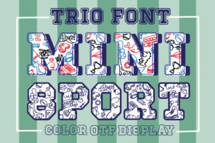 Print on Demand: Mini Sport Color Fonts Font By Nobu Collections