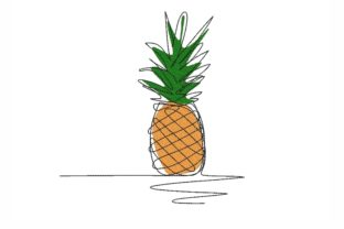 Pineapple Food & Dining Embroidery Design By NinoEmbroidery