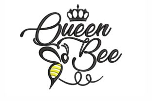 Queen Bee Bugs & Insects Embroidery Design By NinoEmbroidery