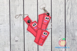 Refrigerator in the Hoop Keyfob Kitchen & Cooking Embroidery Design By embroiderydesigns101