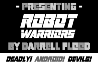 Print on Demand: Robot Warriors Display Font By Dadiomouse 1